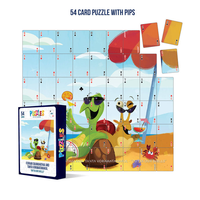 HumaNature Studios - Outta Our Shells, 54 Card Puzzle with PIPS