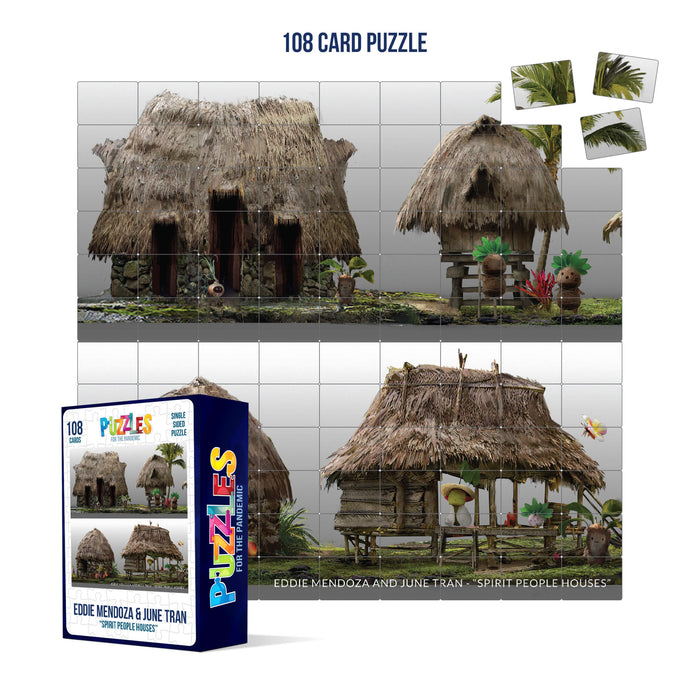 HumaNature Studios - Spirit People Houses, 108 Card Puzzle