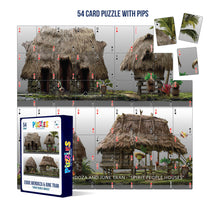 Load image into Gallery viewer, HumaNature Studios - Spirit People Houses, 54 Card Puzzle With Pips