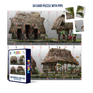 HumaNature Studios - Spirit People Houses, 54 Card Puzzle With Pips