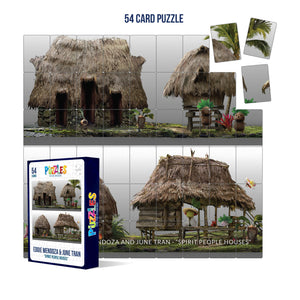 HumaNature Studios - Spirit People Houses, 54 Card Puzzle
