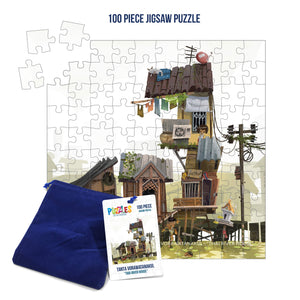 HumaNature Studios - Thai River House, 100 Piece Jigsaw Puzzle