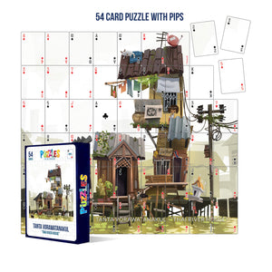 HumaNature Studios - Thai River House, 54 Card Puzzle With PIPs