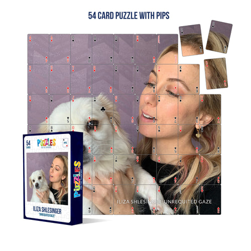 Iliza Shlesinger 54 Card Playing Card Puzzle With PIPS