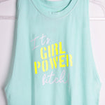 Sport Top Girl Power Aqua