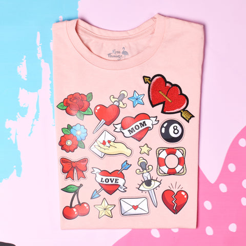 Heart and Roses T-Shirt Girl