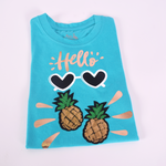Hello Pineapple T−Shirt Niña