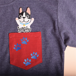 Jumping dog T-shirt Niños