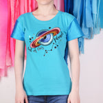 Out of This Planet Lentejuelas T-shirt Mujer