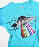 Out of This Planet Lentejuelas T-shirt Niñas