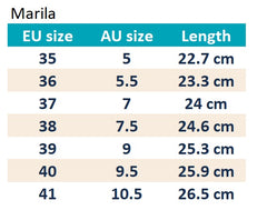 Marila Womens Shoes Size Guide
