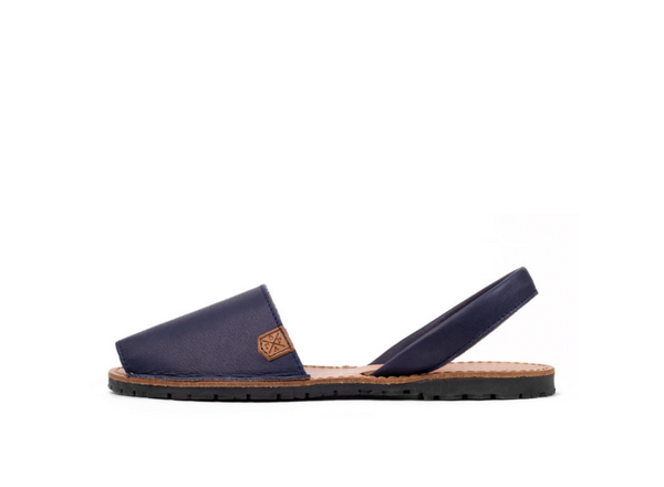 California Navy Leather Classic Avarca