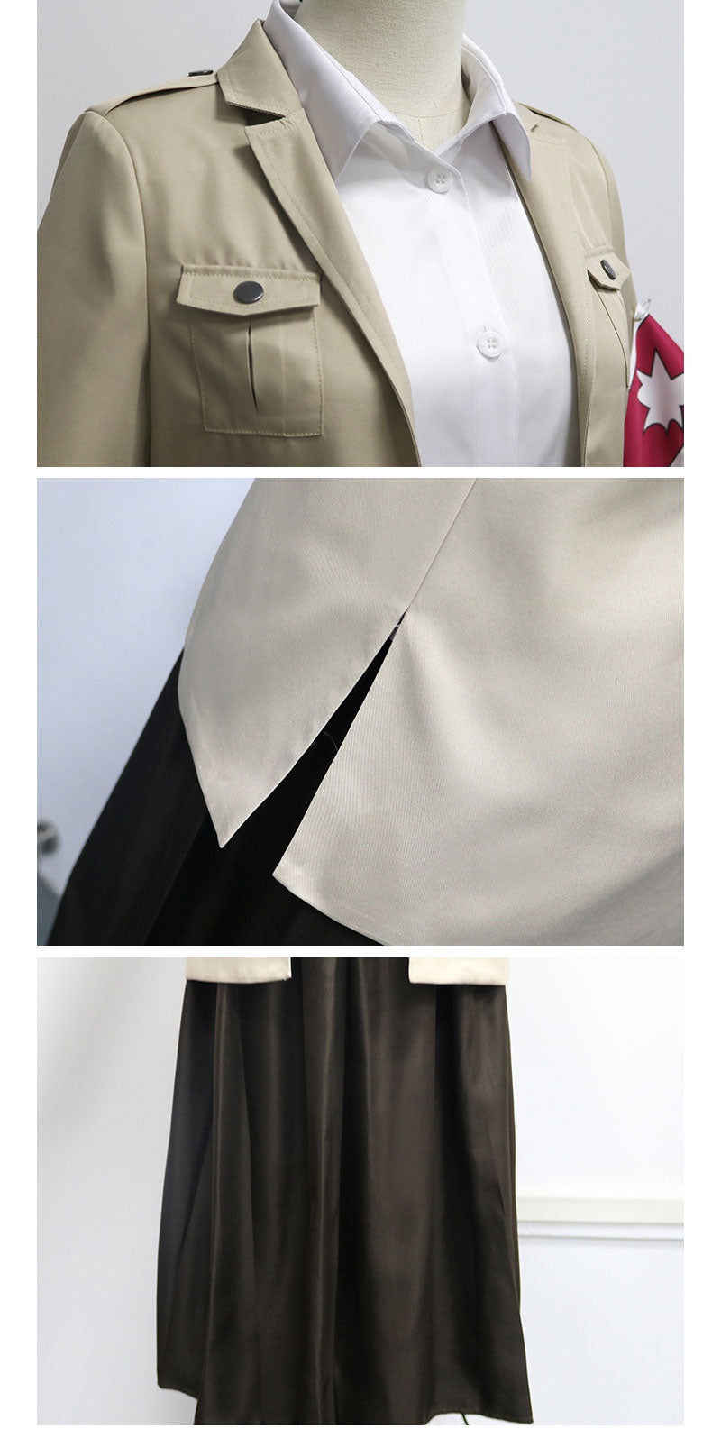 Attack on Titan Warrior Unit Pieck Finger Cosplay Costumes