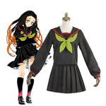 Anime Demon Slayer Kimetsu no Yaiba Nezuko Kamado Makomo School Uniform Cosplay Costumes - Cosplay Clans
