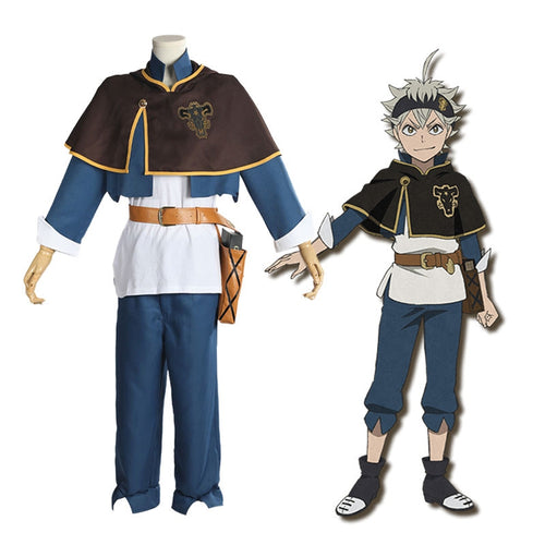 Anime Black Clover Asta Outfits Cosplay Costume with Free Magic Book Prop