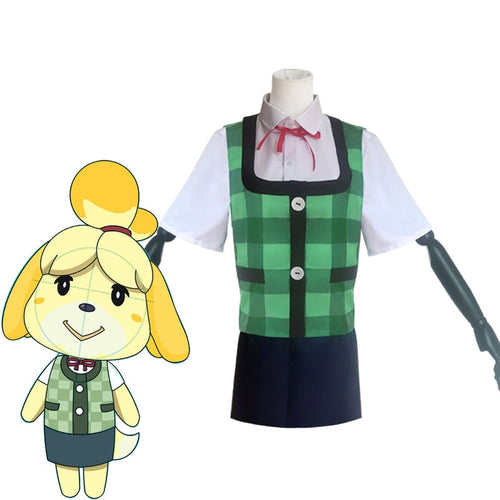 AC Animal Crossing: New Horizons Isabelle Cosplay Costumes - Cosplay Clans
