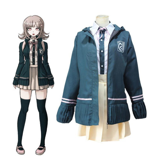 Anime Danganronpa 2: Goodbye Despair Chiaki Nanami Uniforms Jacket Cosplay Costumes - Cosplay Clans