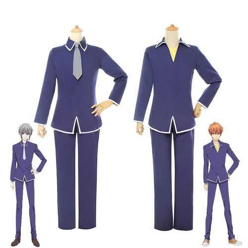 Anime Fruits Basket Soma Yuki Soma Kyo JK School Uniform Cosplay Costumes - Cosplay Clans