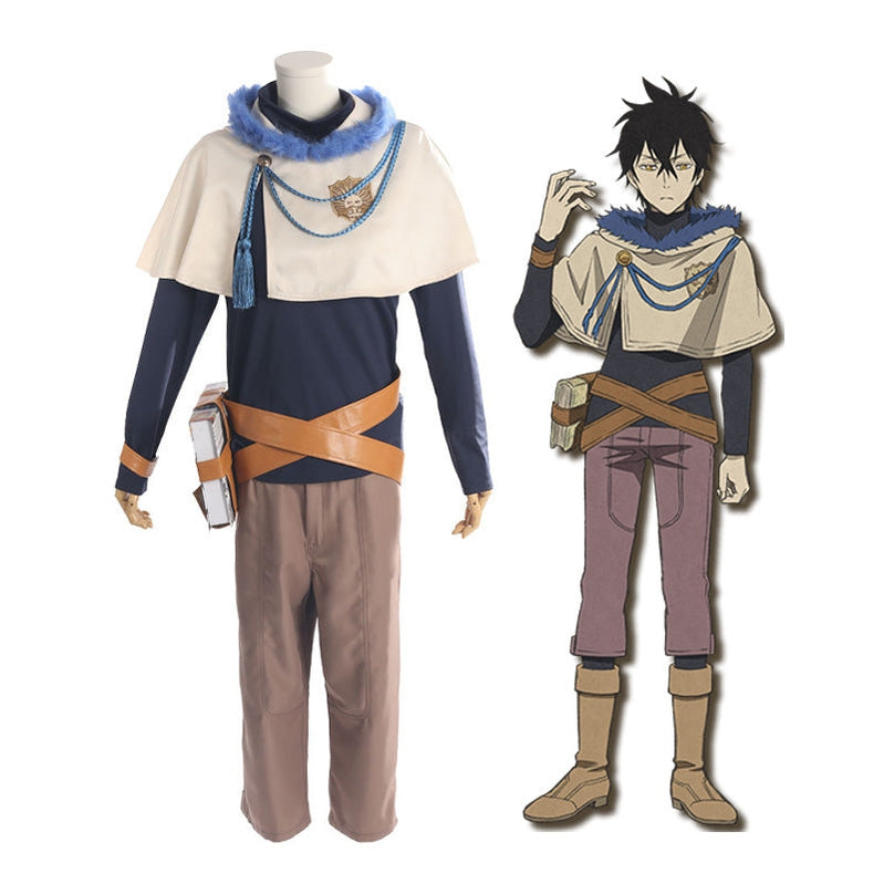 Anime Black Clover Yuno Grinberryall Outfits Cosplay Costume with Free Necklace