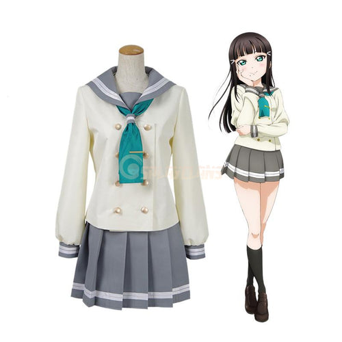 LoveLive!Sunshine!! Kurosawa Dia and Aqours All Members Autumn And Winter School Uniform Cosplay Costume - Cosplay Clans