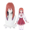 Anime Rent-A-Girlfriend Sumi Sakurasawa Long Red Gradient Purple Cosplay Wigs - Cosplay Clans