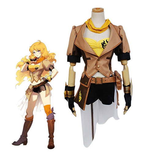 Anime RWBY Yellow Trailer Yang Xiao Long Uniform Cosplay Costumes - Cosplay Clans