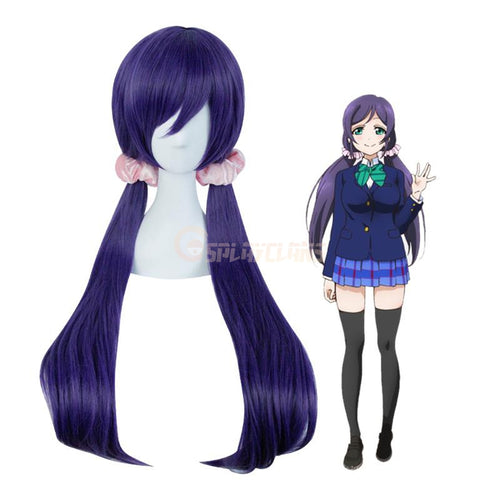 Anime LoveLive! Tojo Nozomi Long Dark Purple Cosplay Wigs - Cosplay Clans