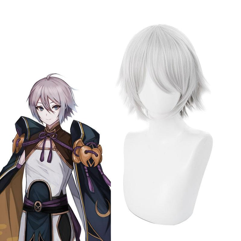 FGO Fate/Grand Order Lang Lin Wang 30cm Short Silver Grey Halloween Cosplay Wigs - Cosplay Clans