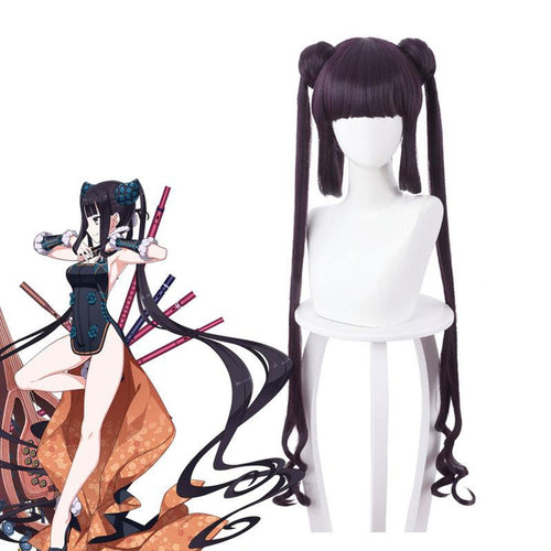 FGO Fate/Grand Order The Imperial Concubine Yang Yang Gui Fei Dark Purple Ponytail Cosplay Wig - Cosplay Clans