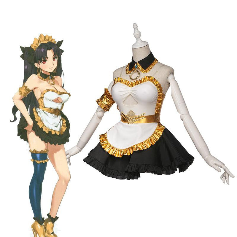 FGO Fate/Grand Order Ishtar Women Maid Uniform Dress Halloween Cosplay Costumes - Cosplay Clans