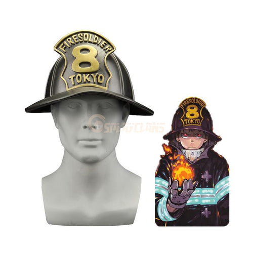Anime Fire Force Shinra Kusakabe Cosplay Special Fire Force Company 8 Fire Hat - Cosplay Clans