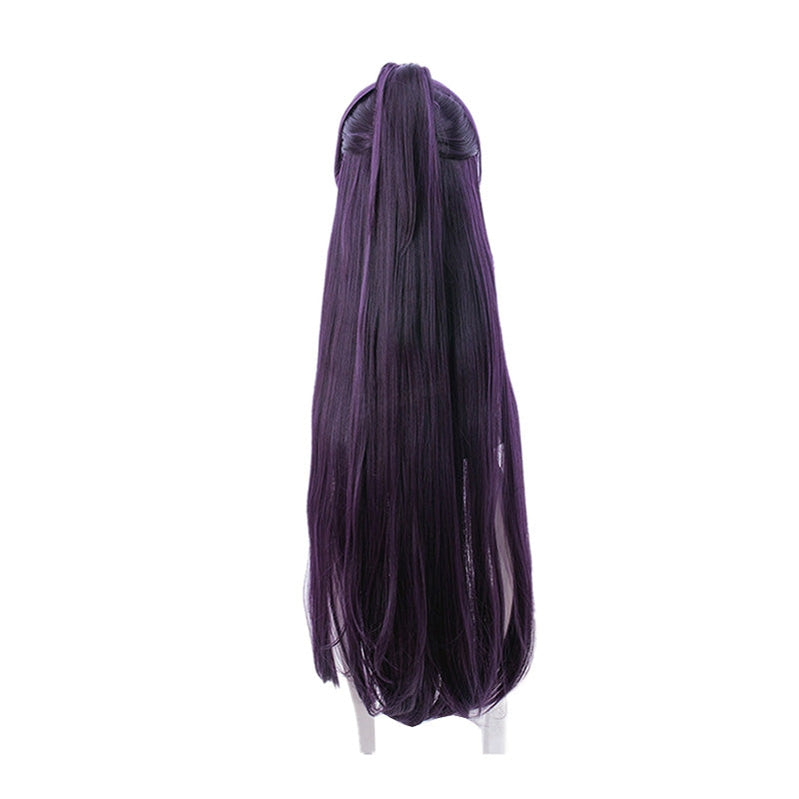 Anime Date A Live Tohka Yatogami Long Straight Purple Cosplay Wigs - Cosplay Clans