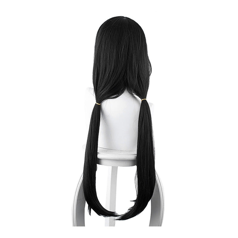 Anime Date A Live Kurumi Tokisaki Long Black Bunches Cosplay Wigs - Cosplay Clans
