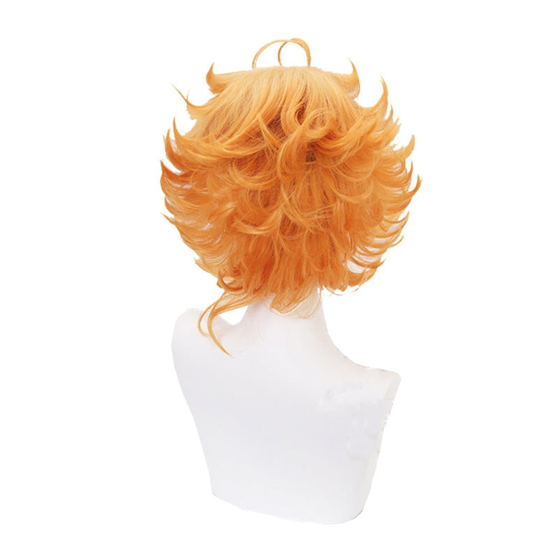 Anime The Promised Neverland Emma Short Orange Cosplay Wigs - Cosplay Clans