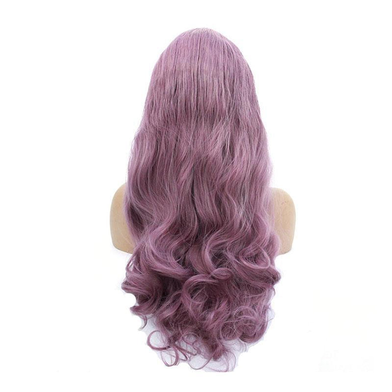 Multi-size Women Lace Front Wigs Long Curly Mixed Purple Cosplay Wigs - Cosplay Clans