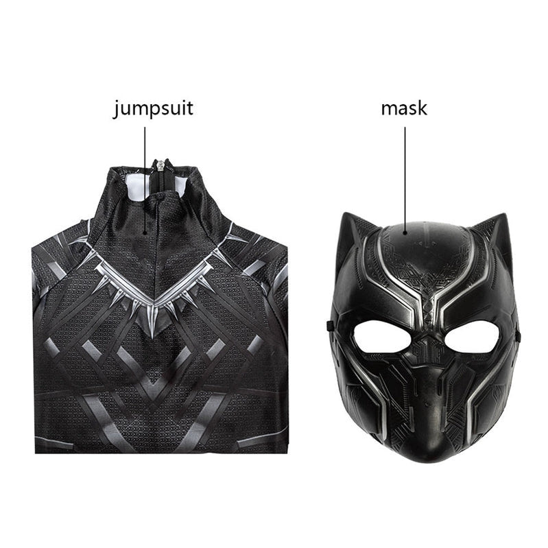 Anime Black Panther Children Jumpsuit Cosplay Costume - Cosplay Clans