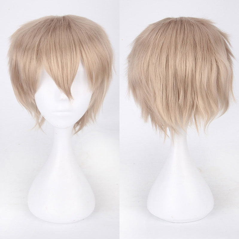Classic Short 30cm Man Fashion Various Color White Black Gray Brown Pink Red Pruple Blonde Anime Cosplay Wigs - Cosplay Clans