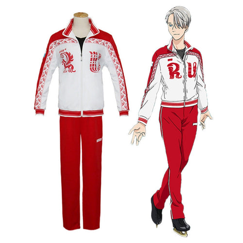 Anime Yuri on Ice Victor Nikiforov Jacket Suit Cosplay Costume - Cosplay Clans