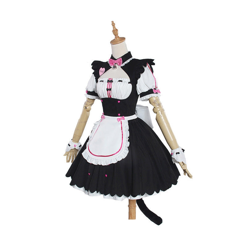 Anime Nekopara Catgirl Chocola Maid Outfit Cosplay Costume - Cosplay Clans