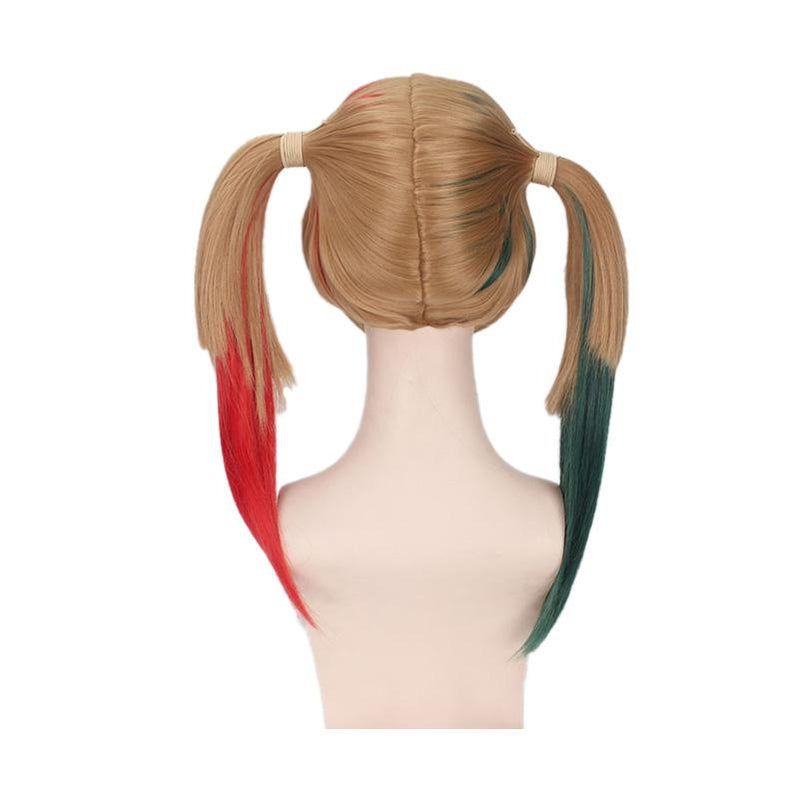 Movie Suicide Squad Harley Quinn Long Red and Green Cosplay Wigs - Cosplay Clans