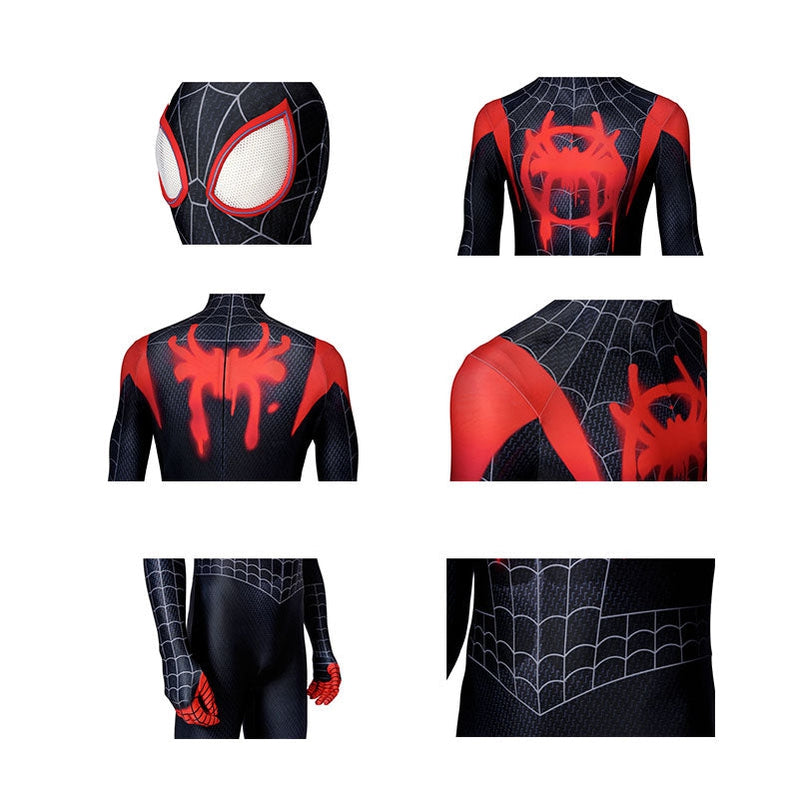 Spider-Man: Into the Spider-Verse Miles Morales Spiderman Jumpsuit Elastic Force Cosplay Costume - Cosplay Clans