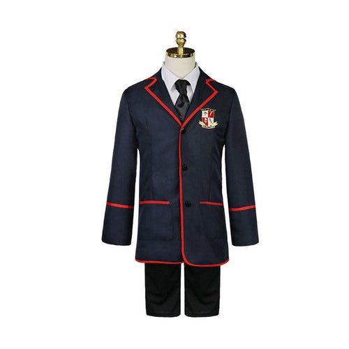 TV The Umbrella Academy Male JK School Uniform Cosplay Costumes - Cosplay Clans