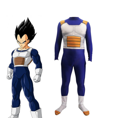 Anime Dragon Ball Vegeta IV Combat Suit Cosplay Costume