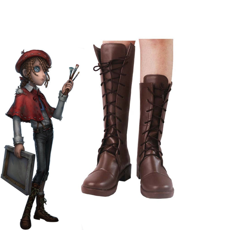 Game Identity V Painter Edgar Valden Cosplay Shoes - Cosplay Clans