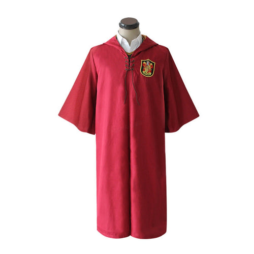 Movie Harry Potter Hogwarts Gryffindor Quidditch Team Cloak Cosplay Costume