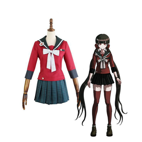 Danganronpa V3 Killing Harmony Harukawa Maki School Uniform Cosplay Costume set and wig Halloween Costume - Cosplay Clans