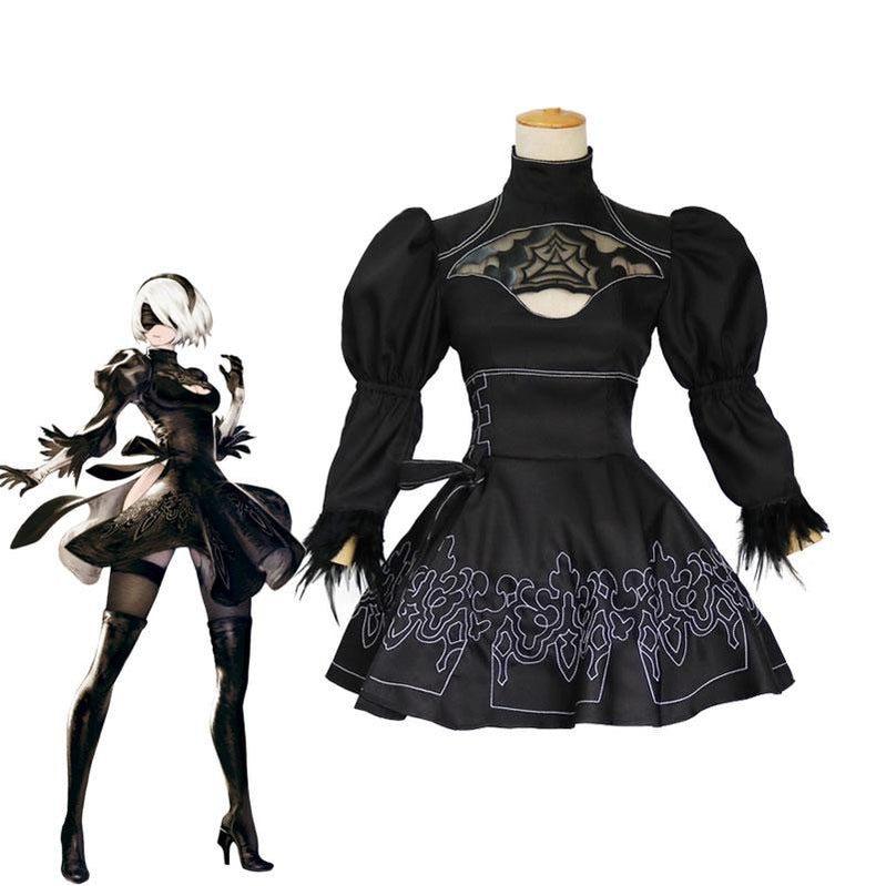 Action Role-Playing Video Game Nier: Automata 2B YoRHa No.2 Type B Cosplay Costumes - Cosplay Clans