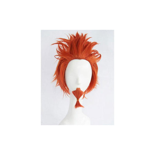 Anime Danganronpa: Trigger Happy Havoc Leon Kuwata Orange Short Cosplay Wigs - Cosplay Clans
