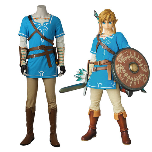 The Legend of Zelda: Breath of the Wild Link Outfits Cosplay Costume - Cosplay Clans