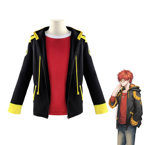 Game Mystic Messenger 707 Saeyoung Choi Jacket Suit Cosplay Costume - Cosplay Clans